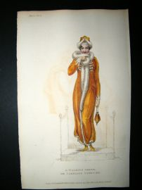 Ackermann 1811 HC Regency Fashion Print. Walking Dress or Carriage Costume 5-11
